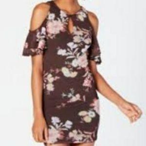 Material Girl Cold Shoulder Dress